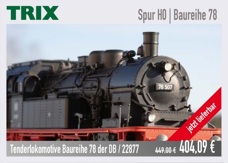 TRIX Baureihe 78 Dampflokomotive 22877