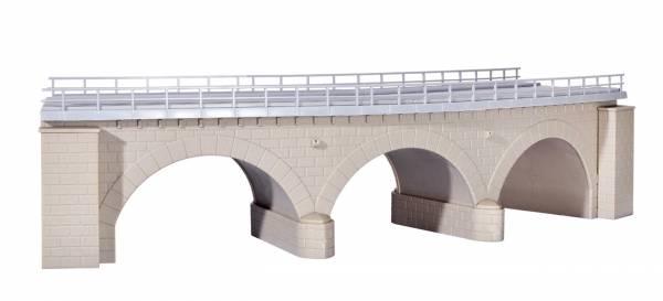 kibri 39722 - Steinbogenbrücke mit Eisbrecherpfeilern gebogen, eingleisig
