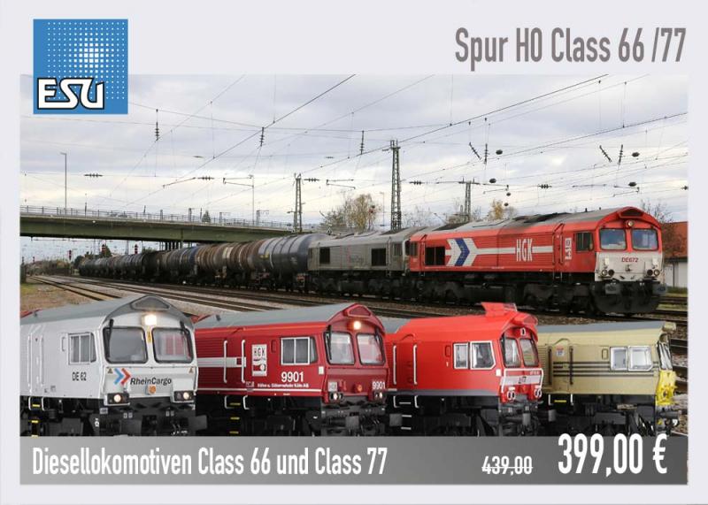 ESU Diesellokomotiven Class66 / Class77
