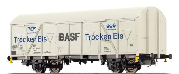 """BRAWA 67810 - Gedeckter Güterwagen Gbs-uv 253 """"BASF Trocken Eis (Transthermos)"""" der DB"""