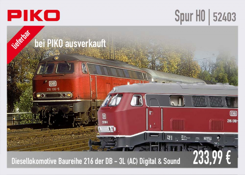 PIKO Baureihe 216 52403 3L Digital und Sound