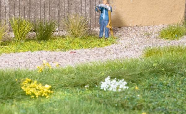Grasbüschel blühend weiß. NOCH 07038
