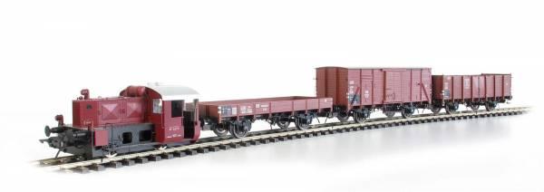 Lenz 43102-02 - Startset Güterzug mit Köf0 und 3 Güterwagen