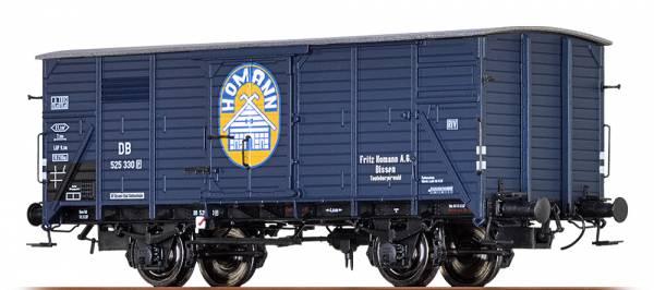 "BRAWA 49074 - Gedeckter Güterwagen Bauart G10 ""Fritz Homann"" der DB"