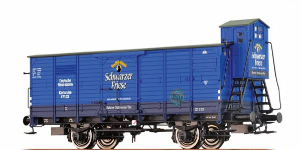 """BRAWA 67463 - Gedeckter Güterwagen Bauart G """"Schwarzer Friese"""" der DRG"""
