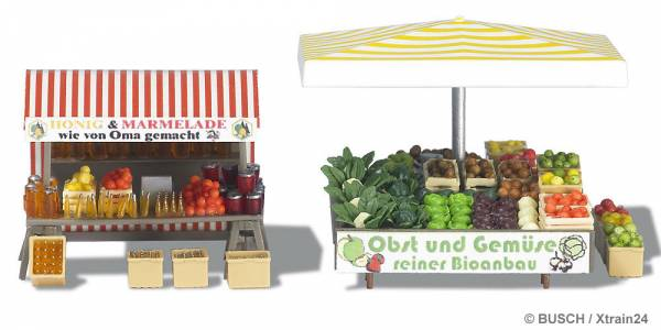 """BUSCH 1071 - Marktstand """"Obst&Gemüse"""""""