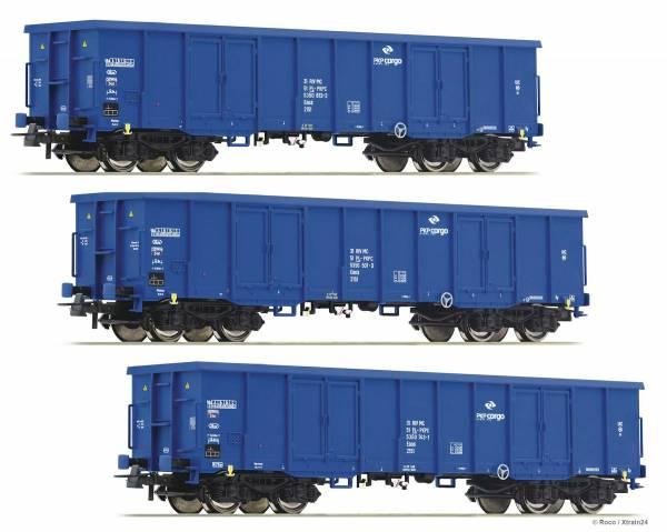ᐅ Roco 76128 - 3-teiliges Set: Offene Güterwagen der PKP-Cargo