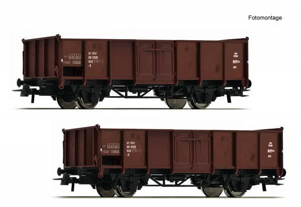 Roco 76125 - 2-teiliges Set: Offene Güterwagen der DSB