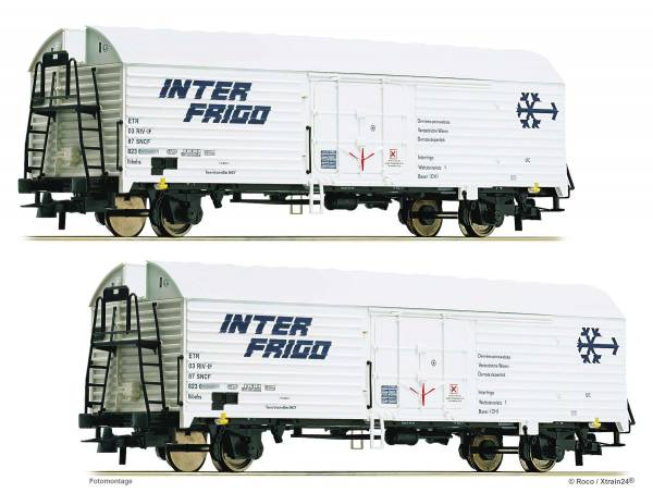 ᐅ Roco 76040 - 2-tlg. Set: Kühlwagen der SNCF, Epoche IV