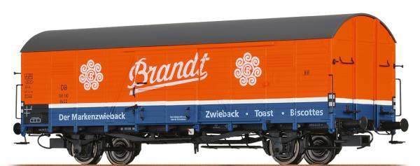 """BRAWA 48732- Gedeckter Güterwagen Bauart Glr 22 """"Brandt"""" der DB"""