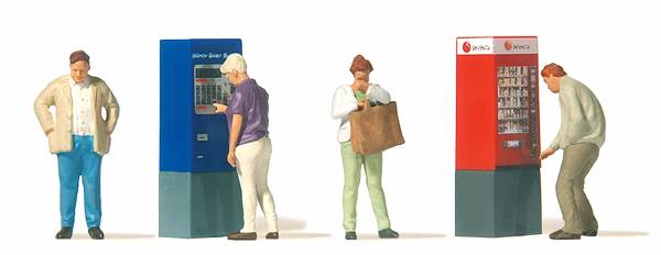 Preiser 10751 - Am Automaten