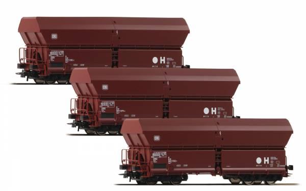 Roco 67082 - 3-teiliges Set: Selbstentladewagen Fals der DB