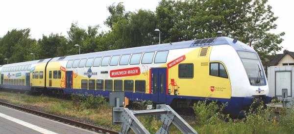 PIKO 58369 - 3-teiliges Set Doppelstockwagen der metronom