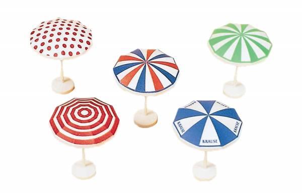 Preiser - Sonnenschirme, 5 Stück bedruckt