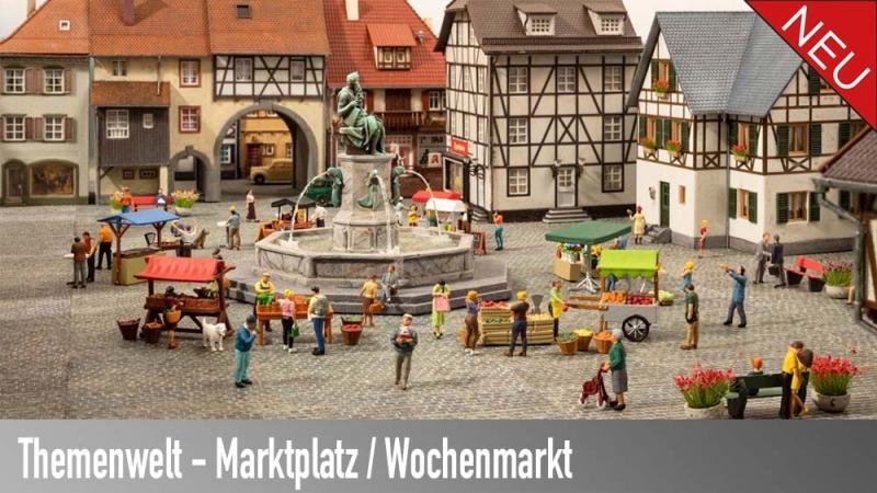 Themenwelt Marktplatz und Wochenmarkt
