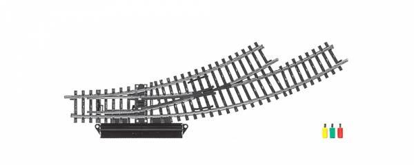 Elektrische Bogenweiche links, K-Gleis. Märklin 2268