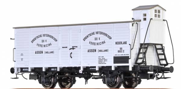"""BRAWA 49064- Gedeckter Güterwagen Bauart SS """"Boterverkoop"""" der NS"""