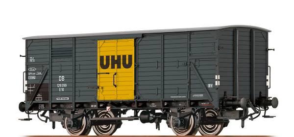 """BRAWA 67450 - Gedeckter Güterwagen Bauart G10 """"UHU"""" der DB"""