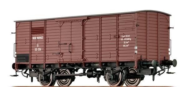 BRAWA 49717 - Gedeckter Güterwagen Bauart G der NSB