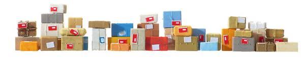 Preiser 17703 - Postpakete, 40 Stück