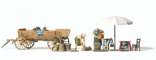 Preiser 10742 - Marktstand, Kartoffelverkauf