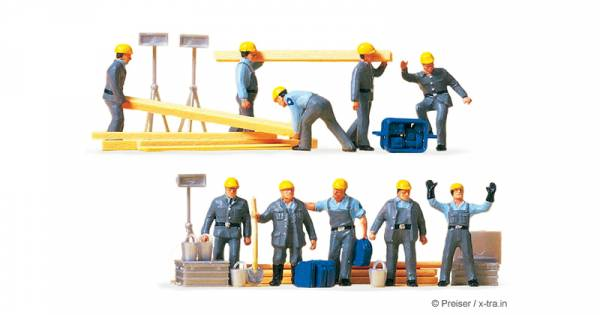 Preiser 10220 - THW-Helfer, Arbeitsanzug