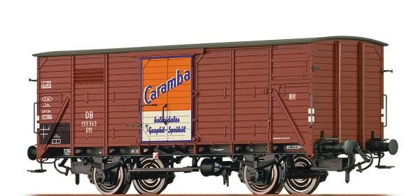 "BRAWA 49729 - Gedeckter Güterwagen Bauart G10 ""Caramba Öl"" der DB"