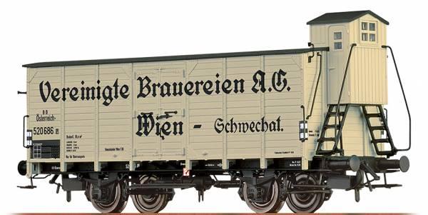 """BRAWA 49737 - Gedeckter Güterwagen Bauart G """"Vereinigte Brauereien A.G. Wien"""" der BBÖ"""