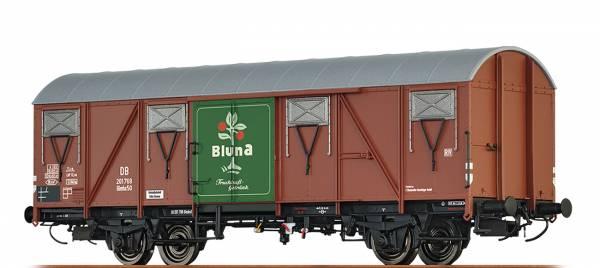 """BRAWA 47273 - Gedeckter Güterwagen, Bauart Glmhs 50 """" Bluna"""" der DB"""
