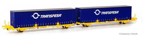Sudexpress SUTF03517 - Doppelcontainerwagen Laagrss der Transfesa