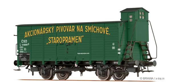 """BRAWA 49734 - Gedeckter Güterwagen Bauart L """"Staropramen"""" der CSD"""