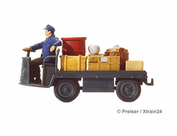 Preiser 28147 - Elektrokarre mit Fahrer der DB