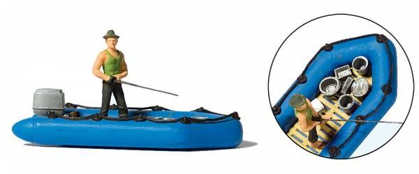 Preiser - Angler im Schlauchboot