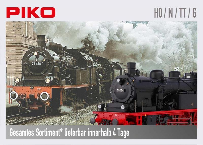 PIKO Sortiment Lokomotiven, Wagen, Zubehör