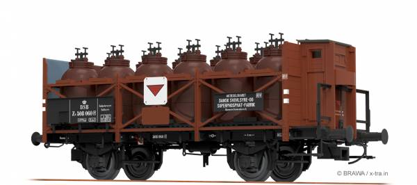 BRAWA 49306 - Säuretopfwagen Bauart Z [P] der DSB