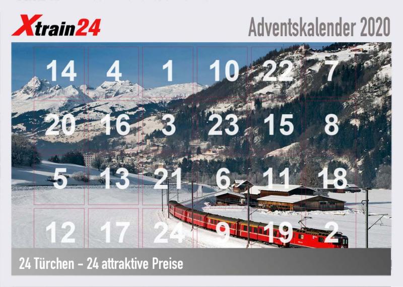 Xtrain24 Adventskalender attraktive Priese