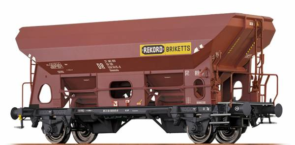 "BRAWA 49522 - Offener Güterwagen Bauart Eds-u Ommstu ""Rekord Briketts"" der DR"