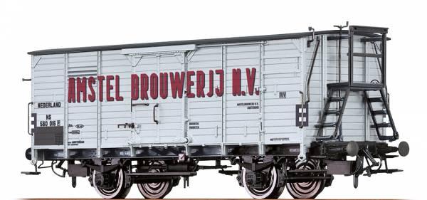 """BRAWA 49062 - Gedeckter Güterwagen Bauart G10 """"Amstel Brouwerij N.V"""" der NS"""