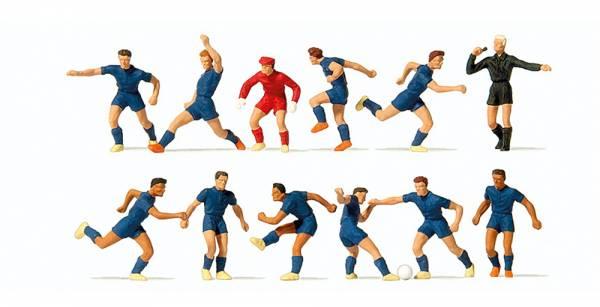 Preiser 10759 - Fussballmannschaft, blaue Trikots und Hosen