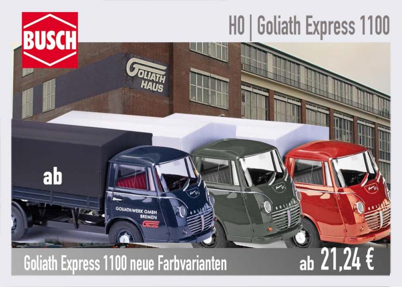 Busch Goliath Express neue Modelle