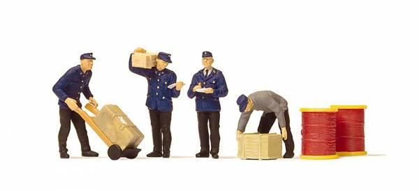 Preiser 10578 - Modellfiguren-Set, Güterbodenpersonal der DB
