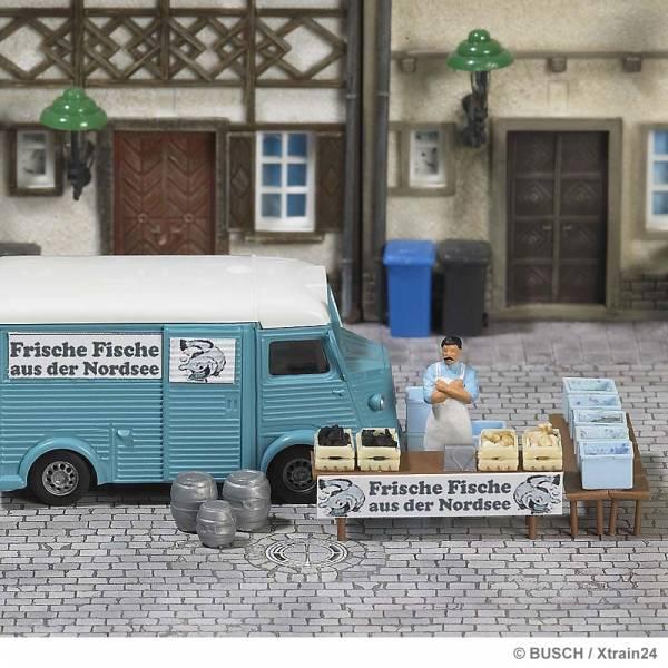 """BUSCH 7708 - Marktstand """"Fische"""""""