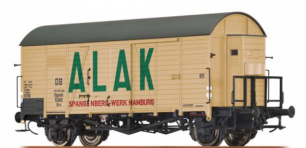 """BRAWA 47956 - Gedeckter Güterwagen Bauart Grs """"ALAK"""" der DB (Brit-US-Zone)"""