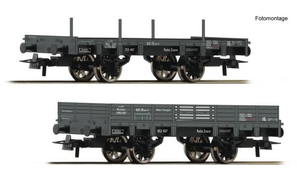 Roco 67160 - Set offene Güterwagen der kkSTB