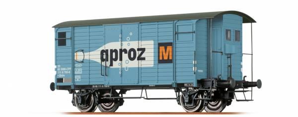 """Gedeckter Güterwagen Gklm """"Aproz"""" der SBB, Ep. IV. BRAWA 47861"""