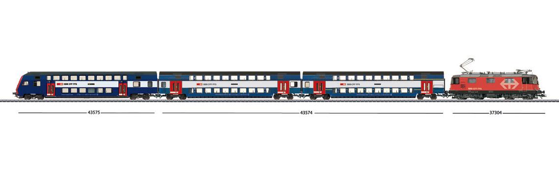 Zugbildung für märklin - Doppelstock-Steuerwagen