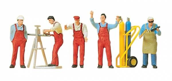 Handwerker, 6 Figuren. Preiser 10243