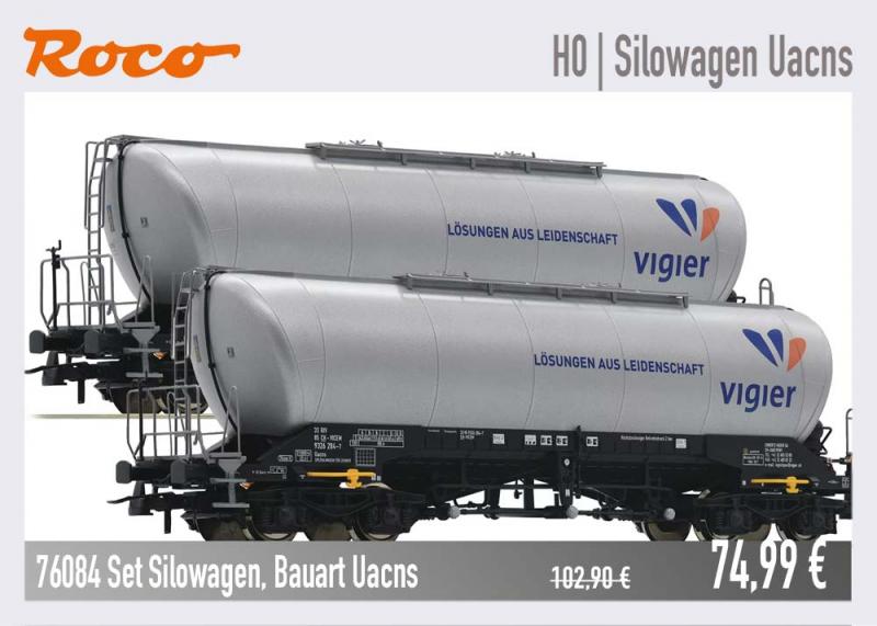 Wagenset Silowagen Uacs 76084