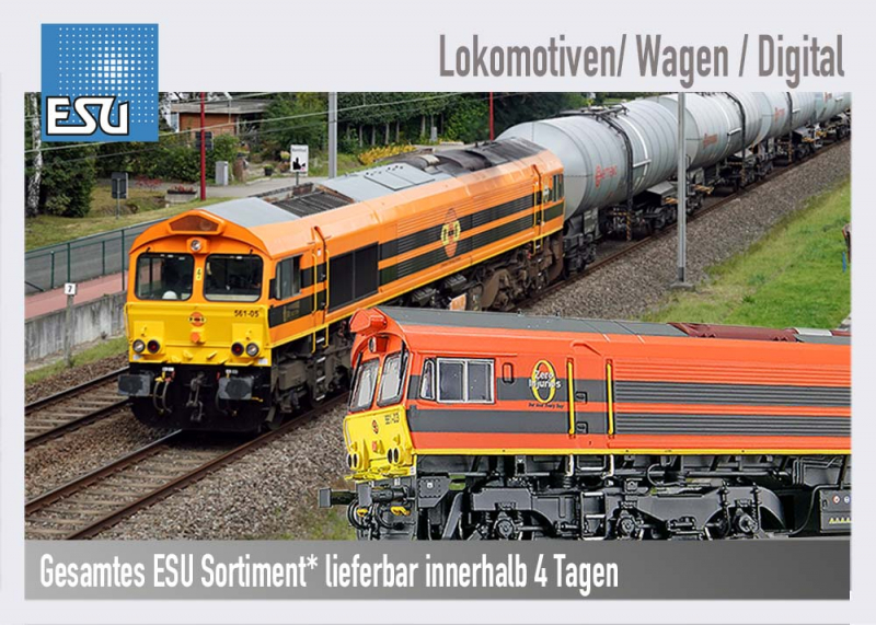 ESU Lokomotiven, Wagen, Digital