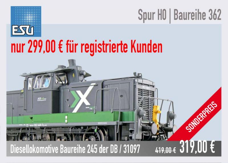 Sonderpreis ESU 31422 Baureihe 362 der AIXrail